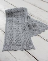 Alyssa Linen Lace Scarf Knitting Kit