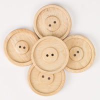 Round Subabul Buttons (sets of 5) - Natural