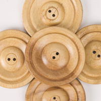 Round Subabul Buttons (sets of 5) - Varnished