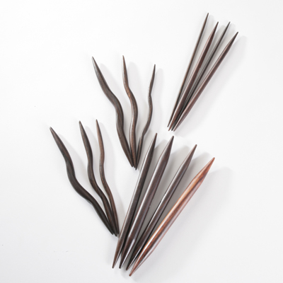 Rosewood Knitting Needles From 275mm To 15mm Cable Double