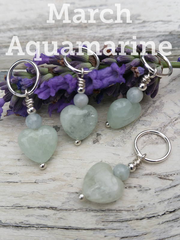 Birthday Gemstone Stitch Markers - Click Image to Close