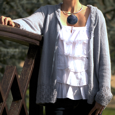 Angora 50 Flowerbud Border Cardigan Kit