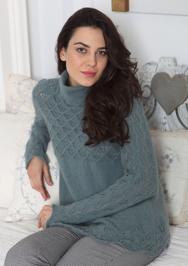 Angora 50 Lace Edged Jumper