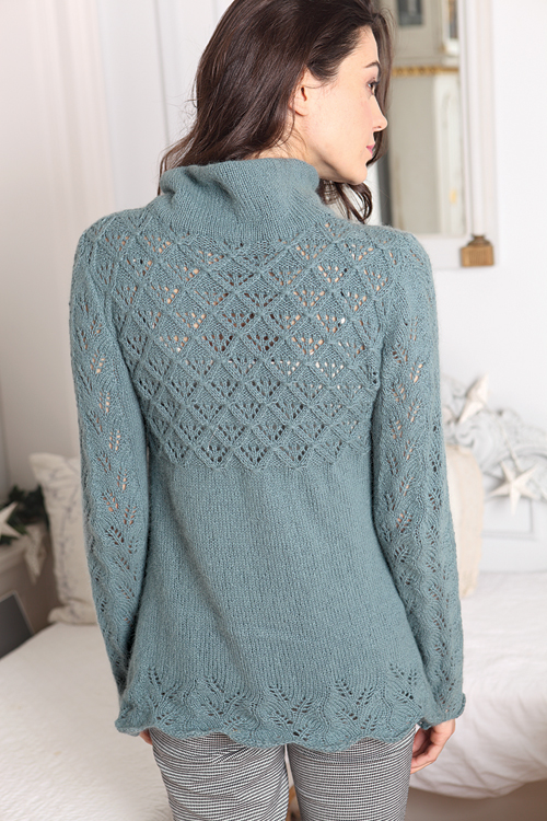 Angora 50 Lace Edged Jumper - Click Image to Close