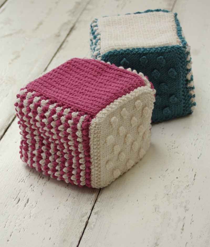 Textured Baby Cube Knitting Kit