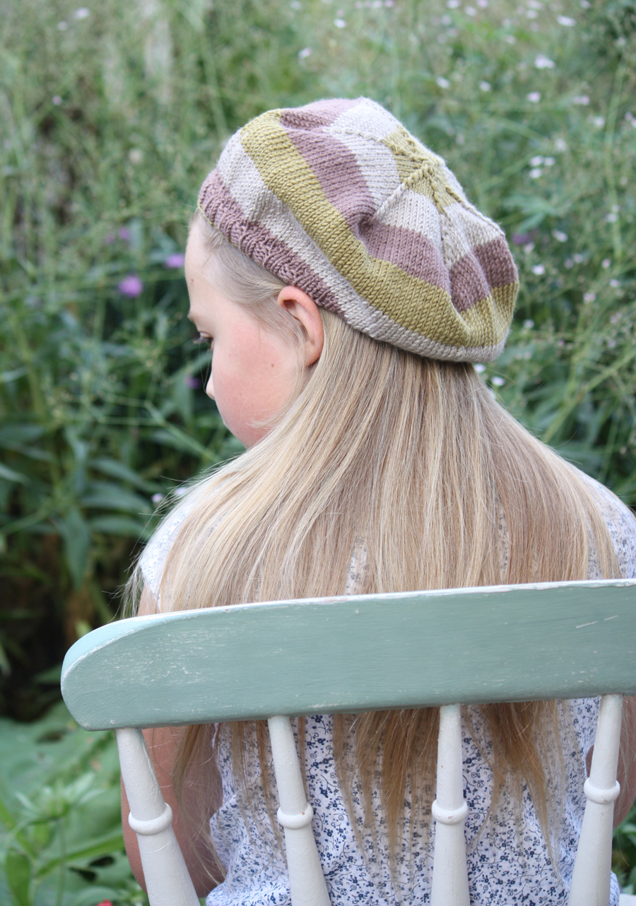 Isobel Merino Striped Beret