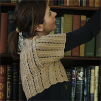 Cashmere Ladder Lace Shrug Pattern