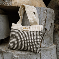 Camel Yarn Nubbly Tweed Stitch Bag Pattern