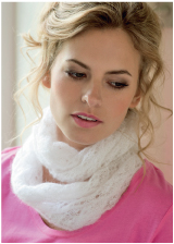 Cloud Nine Lace Cowl - Click Image to Close