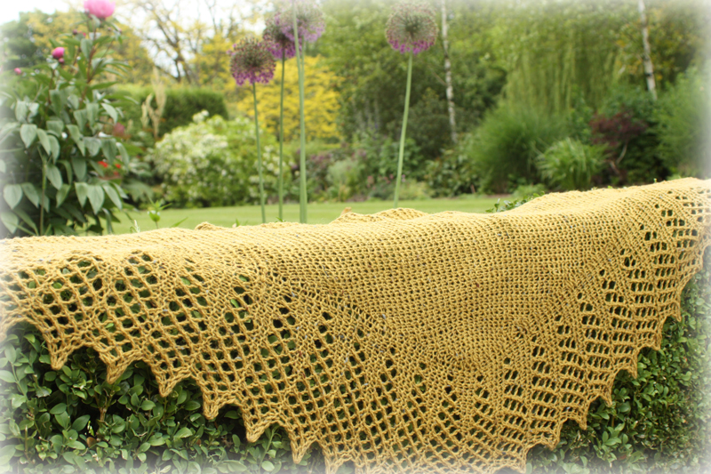 Aquila Wrap Knitting Kit - Click Image to Close