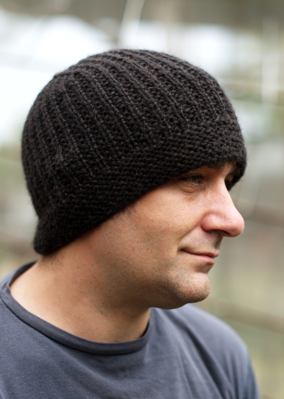 Mens Knitted Hat Patterns : Geko Mens Beanie Hat Knitting Kit