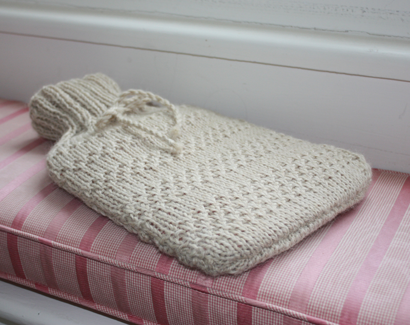 Knitting Pattern For A Hot Water Bottle Cover : Alpaca Blend Hot Water Bottle Cover Knitting Kit