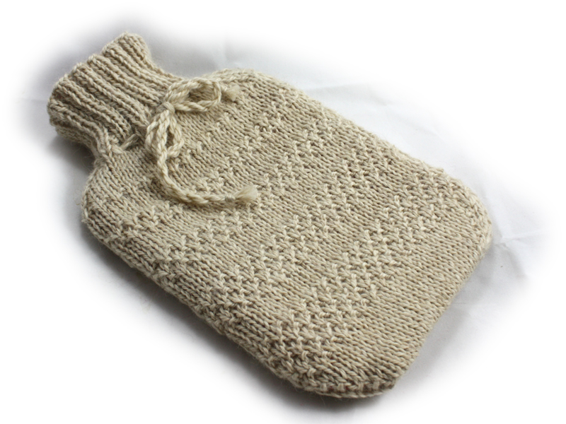 Easy Hot Water Bottle Knitting Pattern : Alpaca Blend Hot Water Bottle Cover Knitting Kit