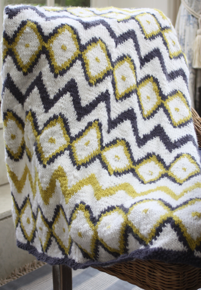 Aztec Throw Knitting Kit - Click Image to Close