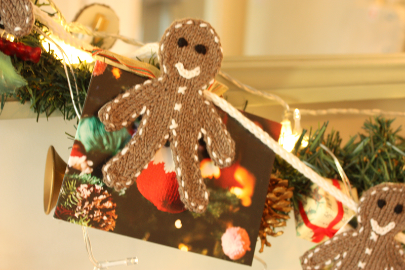 Gingerbread Men Card Display Knit Kit