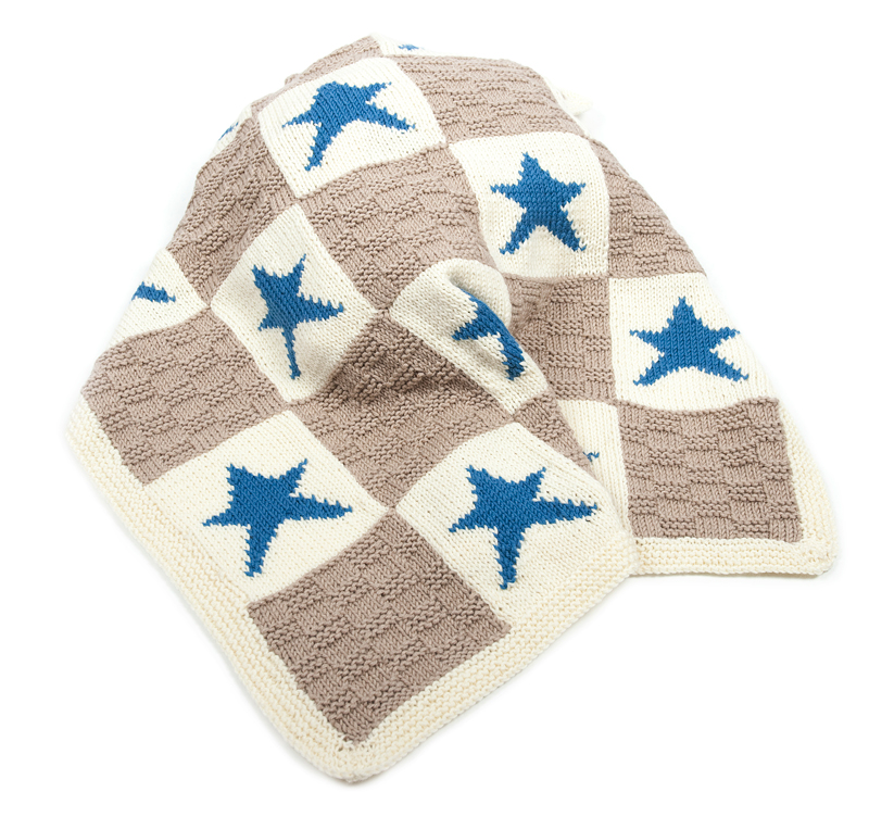 Knitting Pattern For Star Blanket : Hearts and Stars Motif Blanket Knitting Kit [KIT-Hearts ...