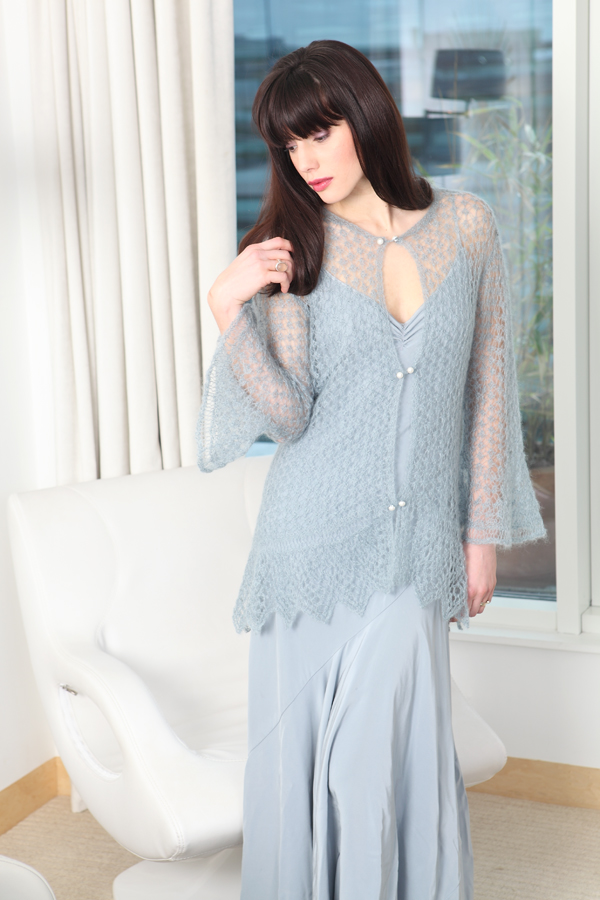 Knitting Pattern Lace Jacket : Guinevere Lace Jacket Knitting Pattern [PAT-Guinevere] : The Little Knitting ...