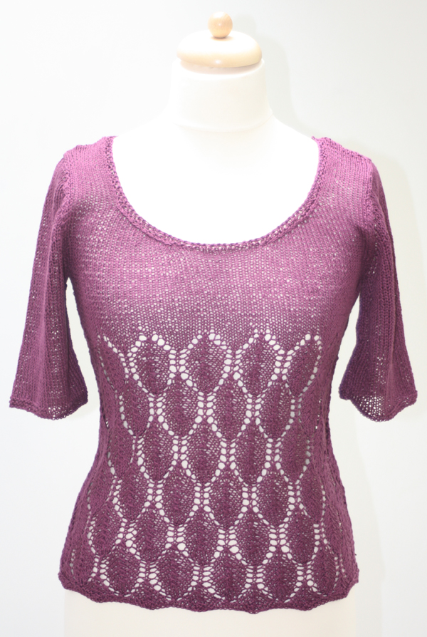 Jessica Linen Leaf Top Knitting Kit
