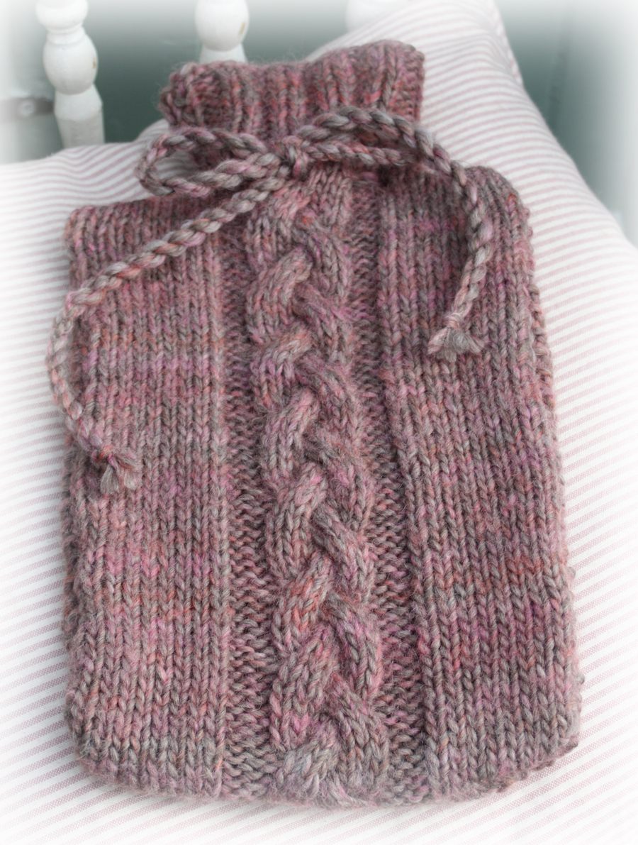 Orchard Hot Water Bottle Cover Knitting Kit