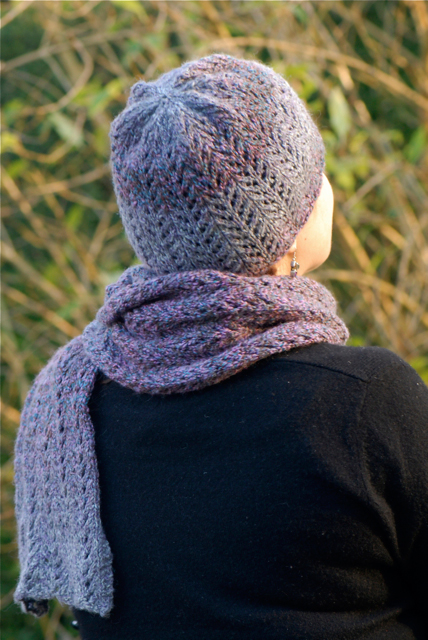 Raffaello Herringbone Lace Beanie and Scarf Kit