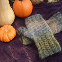 Fingerless Mitts for Fall