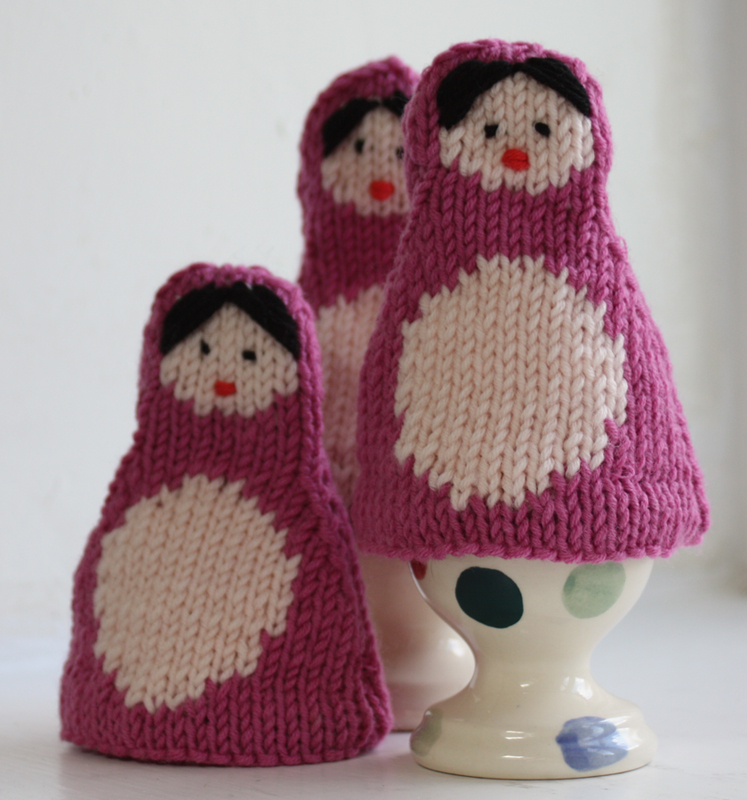 Russian Dolls Egg Cosy Knitting Kit