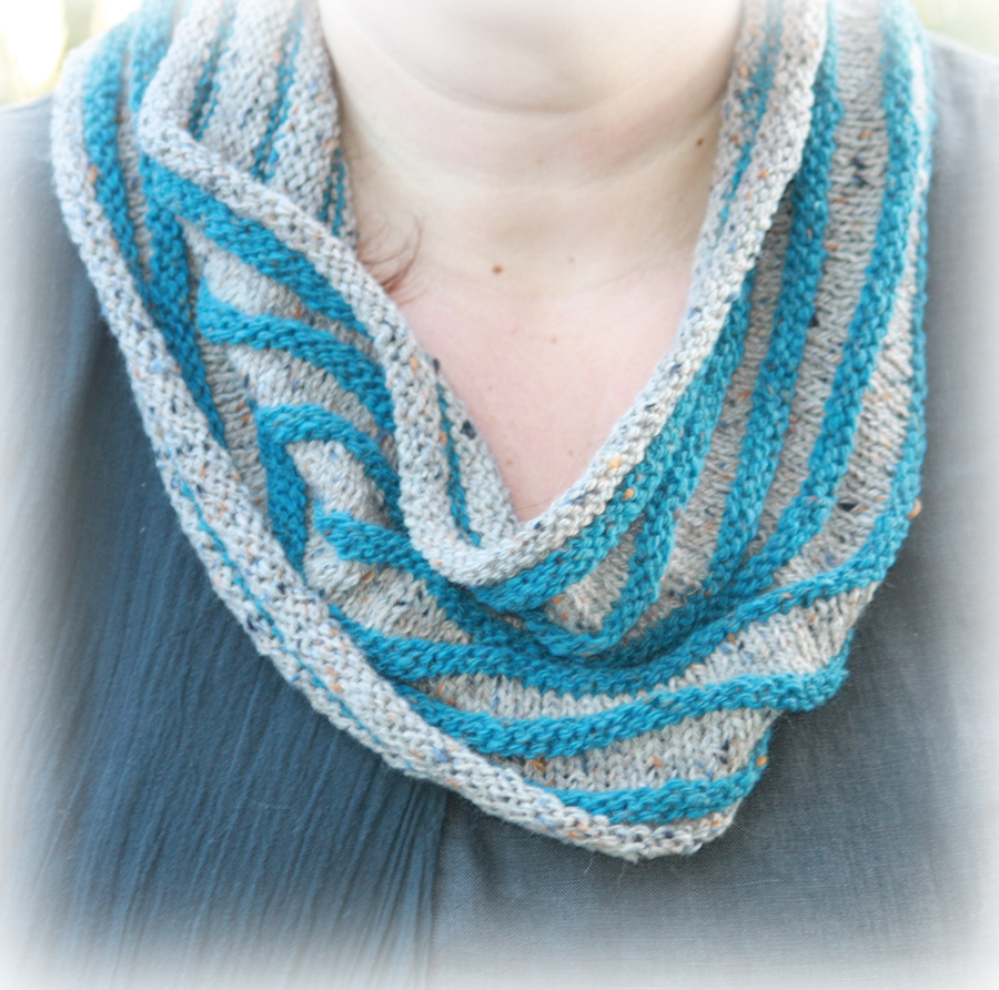 Cashmere and Yak Striped Cowl Knitting Kit - Click Image to Close