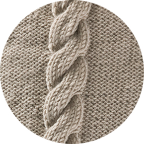 Tebe Moss Stitch Diamond & Bobble Cable Cushion Cover Kit