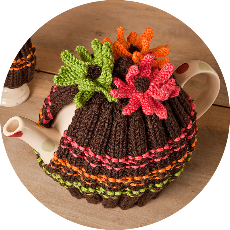 Retro Tea Cosy Knitting Kit - Click Image to Close