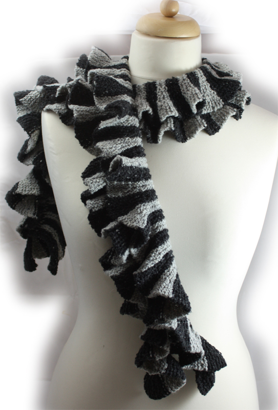 Striped Twirly Scarf Knitting Kit