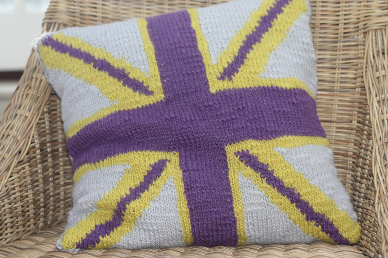 Knitting Pattern Union Jack Cushion Cover : Home : The Little Knitting Company, discover unique yarns and gorgeous exclus...