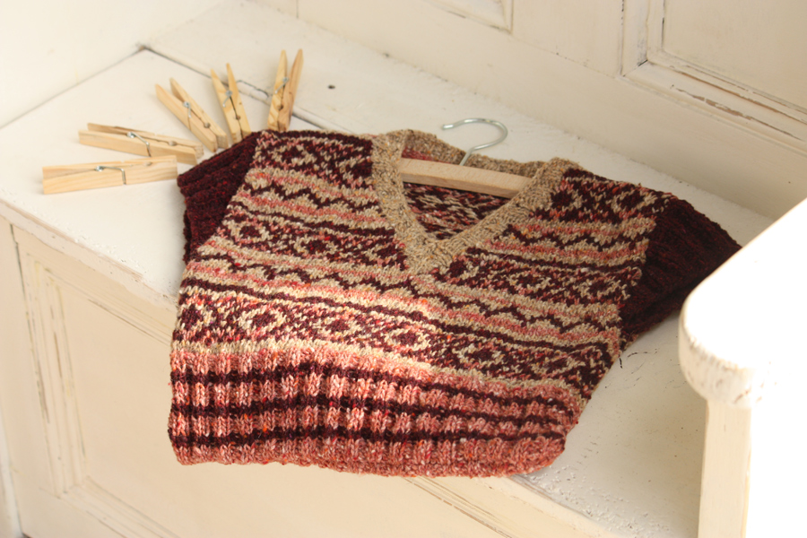 Vintage Fair Isle Peg Bag Knitting Kit
