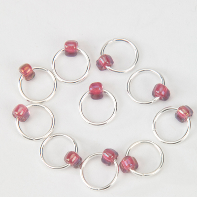 Snag Free Jewel Lace Stitch Markers up to 4mm - set of 10