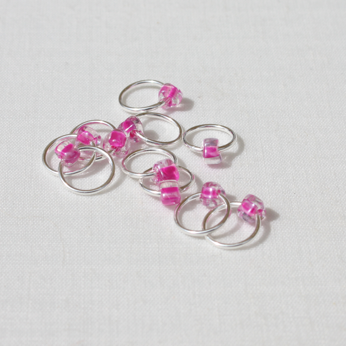 Snag Free Jewel Lace Stitch Markers up to 15mm - set of 10