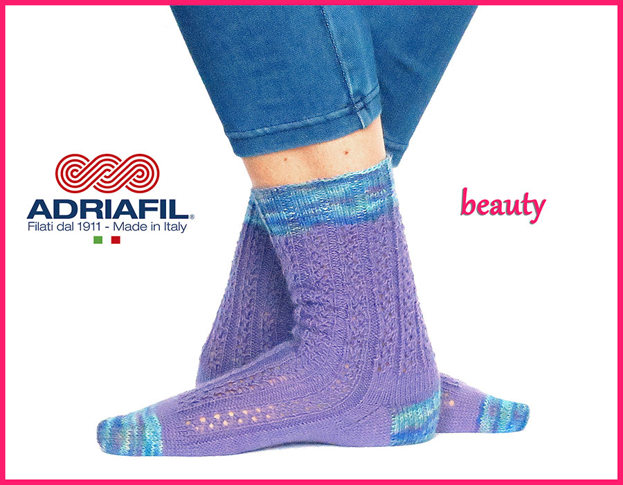 "Calzasocks - ""Beauty"" lace ribbed socks"