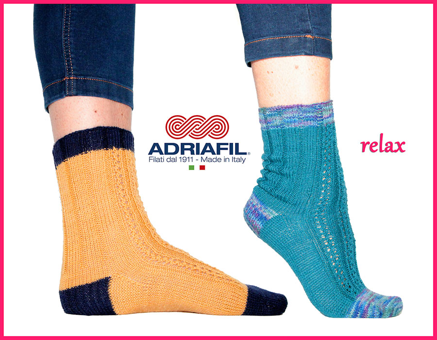"Calzasocks - ""Relax"" fancy ribbed sock"