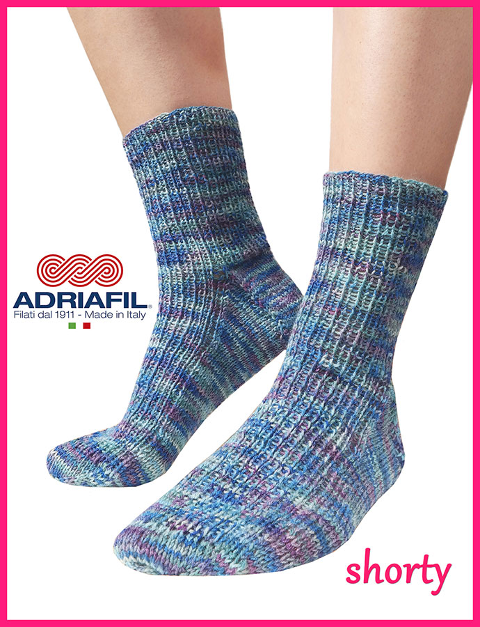 "Calzasocks - ""Shorty"" socks in 1 x 1 ribbing"