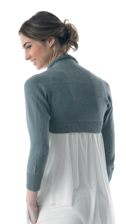 Lace bordered shrug - knitting pattern