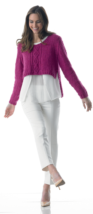 Cable sweater - knitting pattern - Click Image to Close