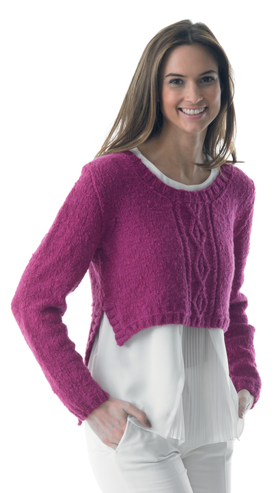 Cable sweater - knitting pattern