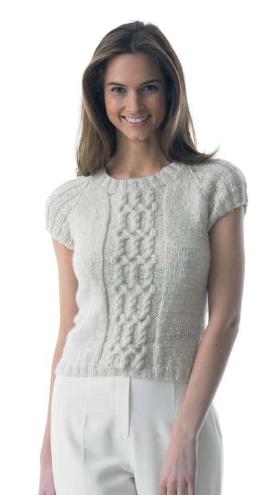Ribbed cable detail top - knitting pattern