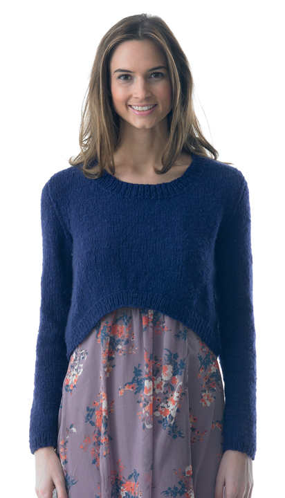 Curved front sweater - knitting pattern
