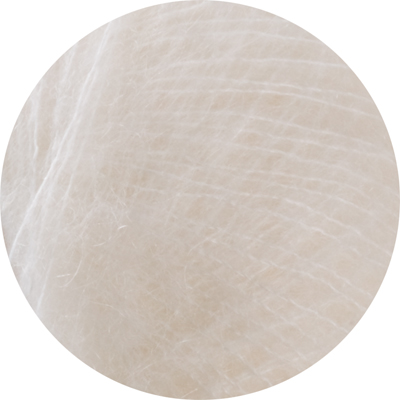 Italian Superfine Kid Mohair - pure white 25g - Click Image to Close