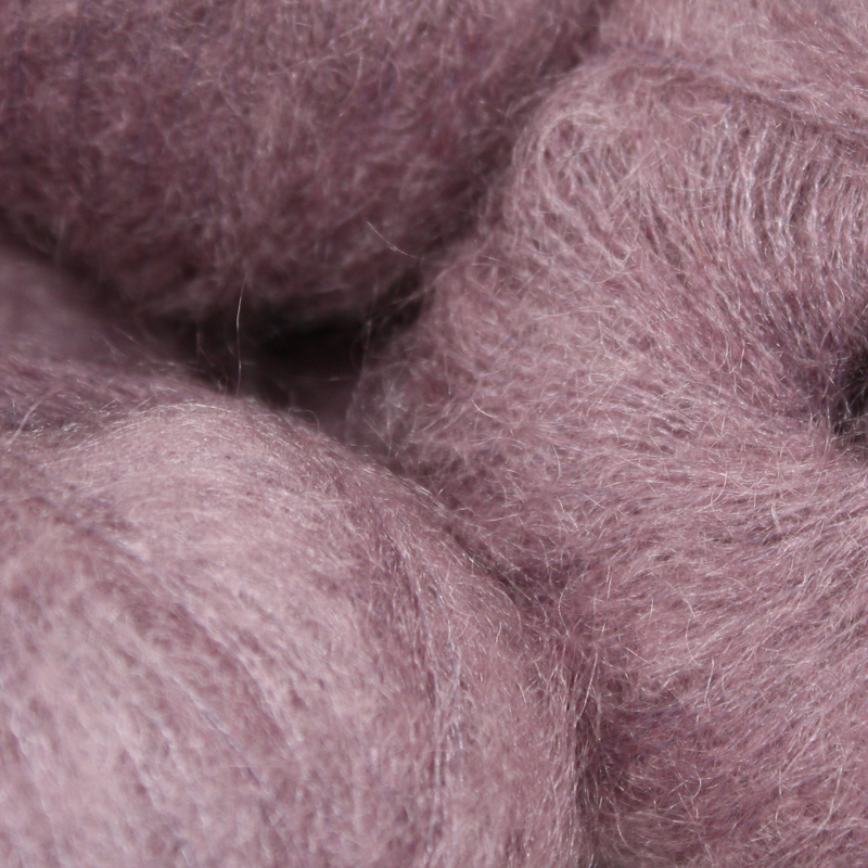 Italian Superfine Kid Mohair - damson 25g - Click Image to Close