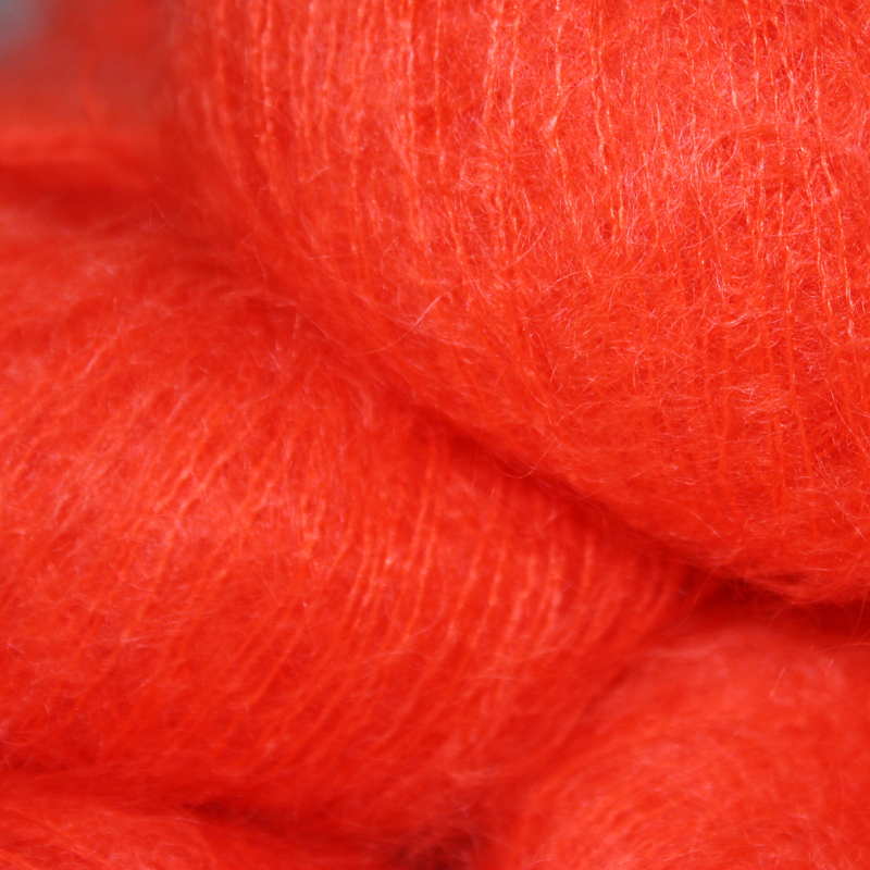 Italian Superfine Kid Mohair - hot orange 25g