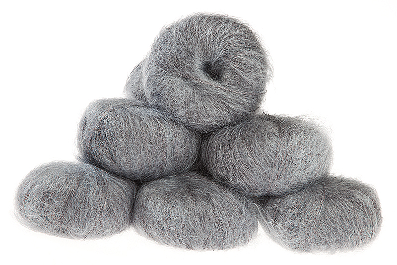 Italian Superfine Kid Mohair - pewter 25g