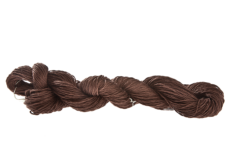 Lin 2.0 100% linen yarn - mocha 100g - Click Image to Close