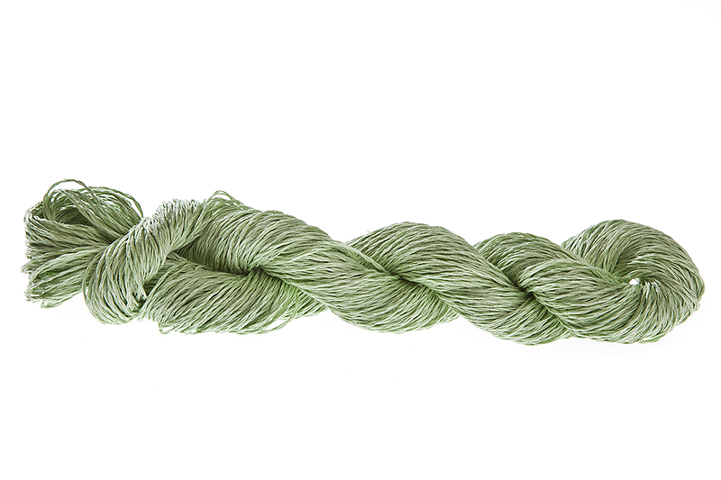 Lin 2.0 100% linen yarn - pistachio 100g - Click Image to Close
