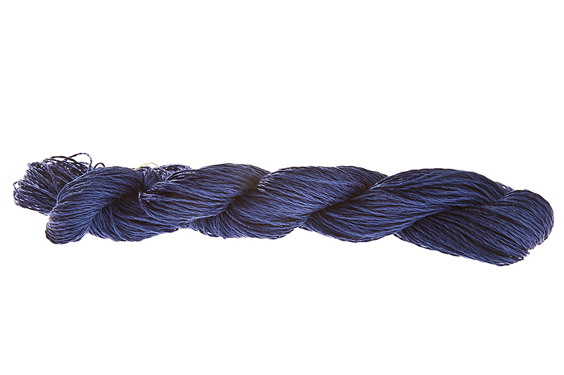 Lin 2.0 100% linen yarn - sapphire 100g - Click Image to Close