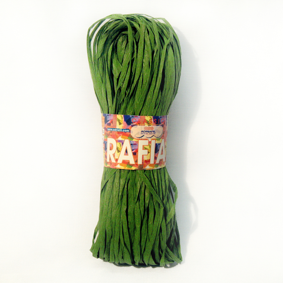 Rafia - forest green 66 25g